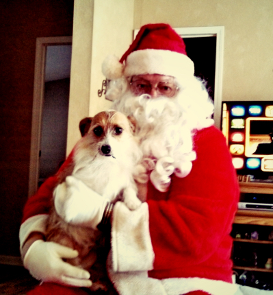 Otis (Keith) and Santa
